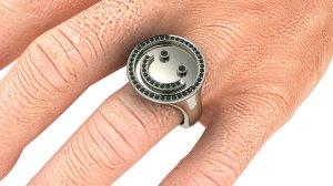 Men's Smiley Ring