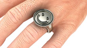 Men's Smiley Ring