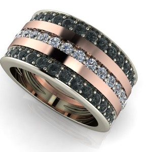 Androgynous ring. Can be a man's wedding band or a man or woman's right hand fashion ring.