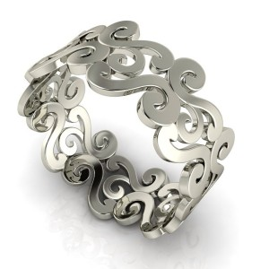 Scroll pattern ring.